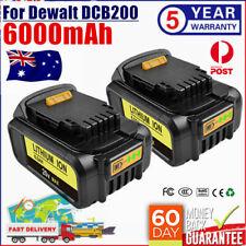 2Pack 18V XR 20V MAX 6.0Ah Li-ion Battery for Dewalt DCB200 DCB182 DCB184 DCB180