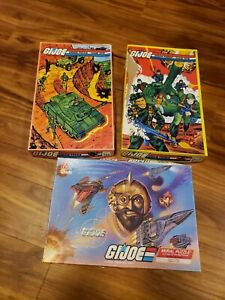 1982 & 1988 GI JOE  Jigsaw Mural Puzzles Milton Bradley APC complete ARAH