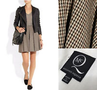 MCQ Alexander Mcqueen Tweed Mini Skirt IT 44 UK12 Houndstooth Cotton Wool Blend