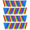 50/100M Triangle Bunting Flag Party Pennant Banner School Match-Decor Multicolor