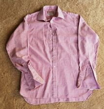 PINK Prestige Button Down Shirt, Red/White, 16 1/2 36 1/2, NWoT