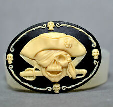 JOLLY ROGER PIRATE Silicone Mould Cupcake polymer clay chocolate resin fimo mold
