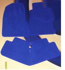 FORD FIESTA & ST 2002 - 2008  BRIGHT BLUE CARPET CAR FLOOR MATS WITH CLIPS