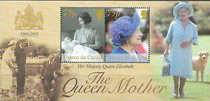 """TRISTAN DA CUNHA - 2002 MNH """"The Queen MOTHER"""" Souvenir Sheet !!!"""