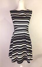French Connection Black & White Stripe Flirty Party Dress  Women's Size 4