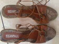 Sean Paul Wedges Brown Leather Womens Ladies Size 6