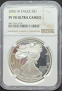 NGC 2006 W American Silver Eagle Dollar Coin PF 70 Proof Ultra Cameo