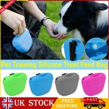 More details for pet training treat bag pouch silicone dog food holder with clip waist pack uk