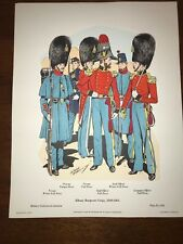 Military Uniforms in America Print #334 1969 Albany Burgesses Corps 1849-1861