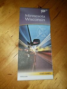 AAA MINNESOTA / WISCONSIN State Travel Road Map Vacation Roadmap MN / WI 2021