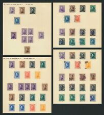 More details for honduras stamps 1878-1889 morazan inc blk 4 & re-issue set, many genuine cancels