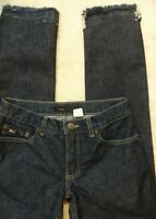 Marc Jacobs Womens Dark Wash Low Rise Distressed Jeans size 4