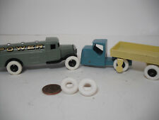 NEW TIRES! LARGE DINKY17MM O/D SMOOTH WHITE TIRES. SET OF 4