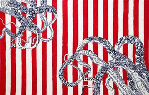 Sierra Octopus Tail Rug Modern Style Wool & Silk Area RUGS & Carpet