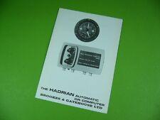 607K03 Prospekt, leaflet: BROOKES & GATEHOUSE: HADRIAN AUTOMATIC D.R. COMPUTER