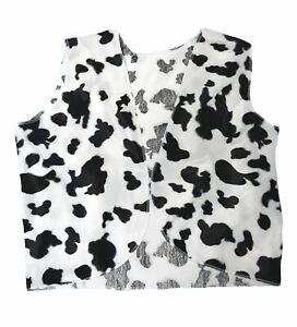 Adult Black & White Cow Print Cowboy Cowgirl Waistcoat Woody Fancy Dress