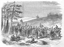 POLOGNE POLAND TARNOW CONVOI PRISONNIERS POLONAIS GRAVURE ILLUSTRATION 1863