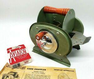 Vintage 1950s Nestor Johnson 5-A Card Shuffler 1-3 Decks w/Box Manual - USA