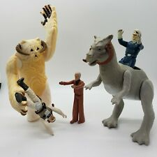 Vintage Star Wars Wampa Luke Tauntaun AND Han Solo Action Figure Lot of 5