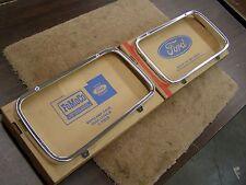 NOS OEM Ford 1965 Fairlane Headlight Door Bezels Pair Trim