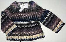 Patrons of Peace Top Blouse Womens Juniors Medium Long Sleeve Light