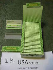 3 case MOON GREEN 1.25 Cigarette Rolling Papers  40 leaves/pack 77x45mm USA HEMP