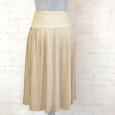 Club Monaco tan and white pleated skirt (size 4)