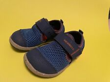Gently Used Boys Merrell Toddlers Size 6W Blue and Orange Water Shoes