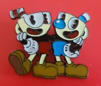 Cuphead Pin Red and Blue Enamel Retro Gaming Metal Brooch Badge Lapel