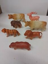 Vintage/Antique 7 plastic Celluloid? Blow mold? Animals Toy Figurine Japan