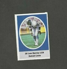 1972 Sunoco Stamp Lem Barney Detroit Lions
