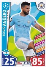Sergio Agüero 2017-18 Topps Champions League Match Attax,Sammelkarte,#179