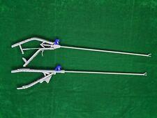 2pc Laparoscopic Needle Holder Gun Typeethicon Type Curved Jaw 5mmx330mm