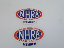 NHRA Member Stickers Lot of 2