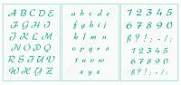 Alphabet Nr.38 Schrift -Schablonen ● Buchstaben ABC groß, abc klein oder Zahlen
