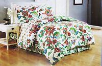 Floral Cottage Queen Comforter Sheet Set Reversible Shams Bedskirt 8pc New