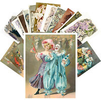Postcards Pack [24 cards] Vintage Carnival Cabaret Posters Art Deco CC1119
