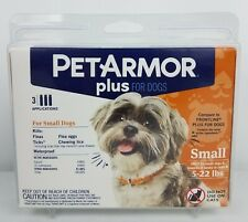 PetArmor Plus Flea and Tick Prevention for Small Dogs 5-22 Pounds 3 Applications