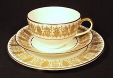 1929 ROYAL DOULTON TRIO CONDITION GILDED REGALESQUE BANDED PATTERN D. 4790.