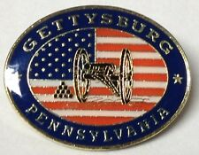 GETTYSBURG PENNSYLVANIA US FLAG & CANNON CIVIL WAR LAPEL PIN HAT TAC NEW