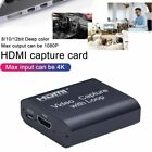 Video Capture Card 4K HDMI To USB 2.0 PC Game Live Streaming Video Loop Recorder