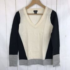 Club Monaco V Neck Color Block Pullover Sweater Size XS