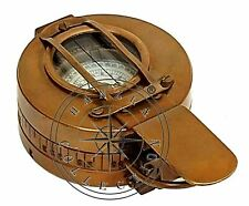 Nautical Antique Brass Prismatic Military Compass Marine Engineering Pocket Gift