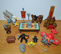 Imaginext KNIGHTS & Others Accessories Parts Lot Castle Battle Plan 2013