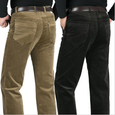 Mens Corduroy Business Casual Thicken Stretch Straight-leg Trousers New
