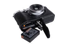 Genuine Real Leather Half Camera Case Bag Cover for FUJIFILM X100F Bottom Open B