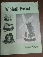 Vintage Craft Patterns by A. Neely Hall Multiple Windmills Woodworking Patterns