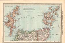 Scotland Orkney Antique European Maps & Atlases 1900-1909 Date Range