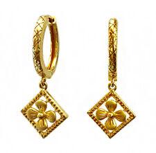 22 Kt Yellow Solid Gold Wedding Wear Huggie Hoop Earrings Women Fine Jewelry Ear