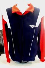 Vintage Pony Zip Up Track Jacket Red White Blue Logo Size Medium (M)